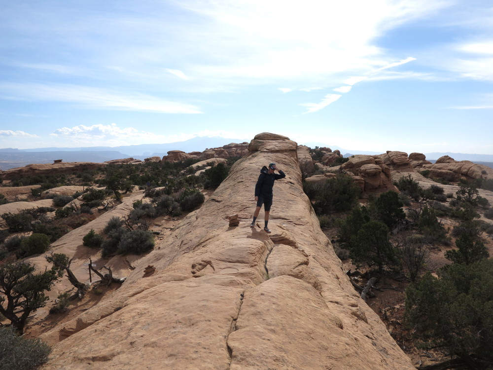 Arches National Park dangerous fin hike