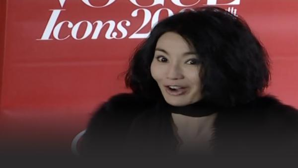 Cheung during a red carpet interview