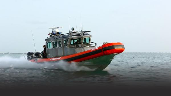 Coast Guard Rescue Boat on water