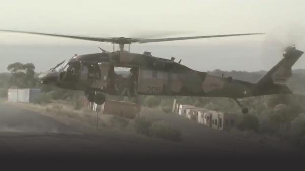 Australian special forces helicopter landing