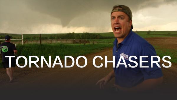 Reed Timmers shouts instruction to the Tornado Chaser team