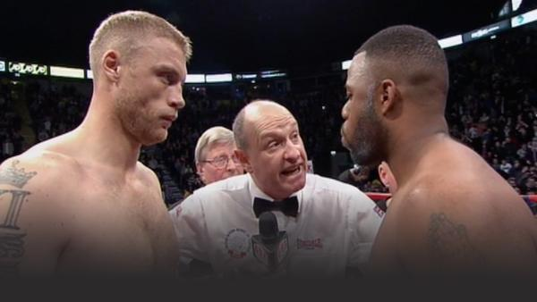 Freddie Flintoff prepares for a professional boxing match against Richard Dawson