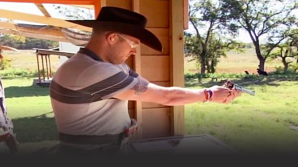 Freddie Flintoff shooting competition