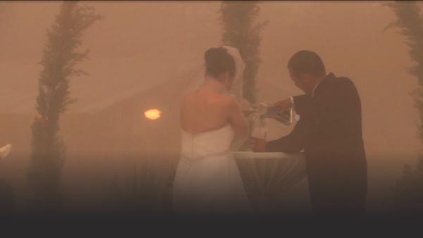 Wedding in a sand storm