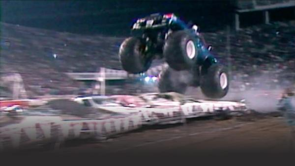 Monster Trucks soar through the air