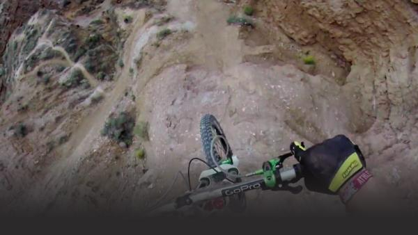 Awesome downhill bike run in Moab