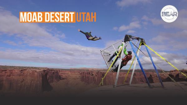 BASE jump in Moab, Utah