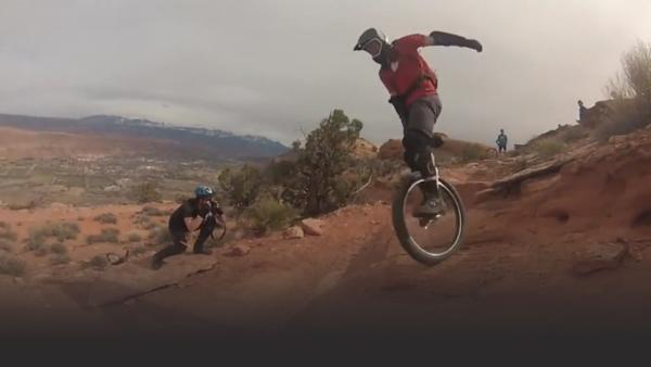 Unicycle downhill