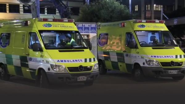 Ambulance crew prepare for a night out on Wellington's busiest party street