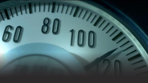 speedometer rises quickly